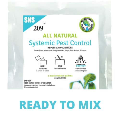 Sierra Natural Science SNS 209 Organic Systemic Pesticide Ready to Mix Pouch